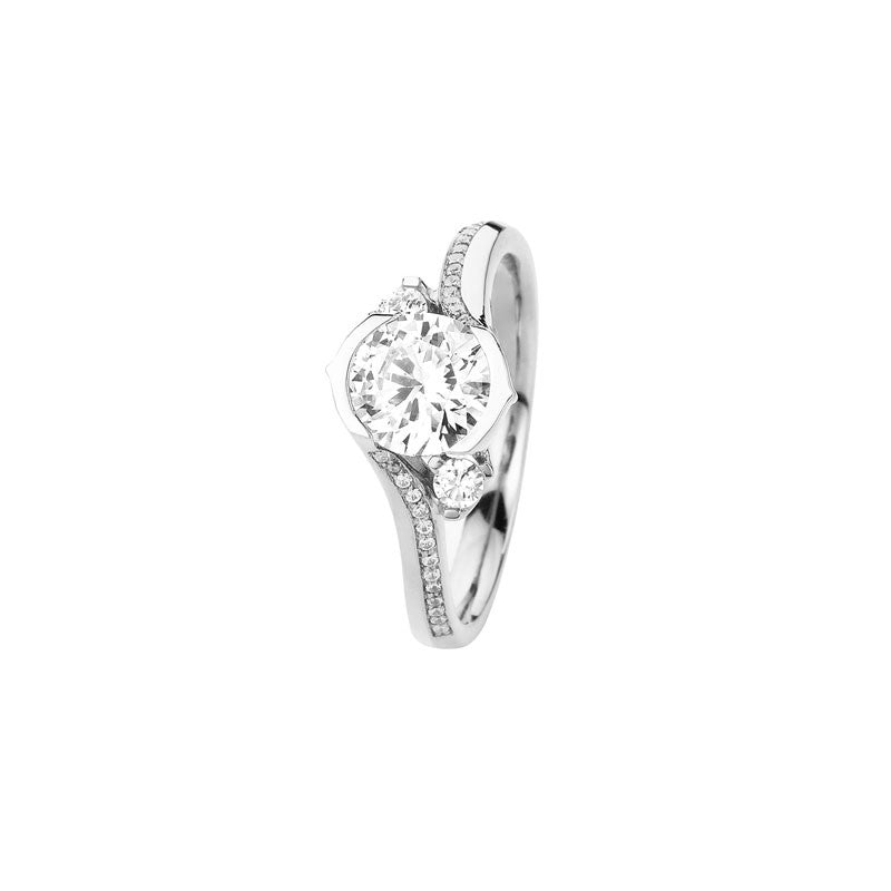 Lily Round Brilliant Diamond Engagement Ring