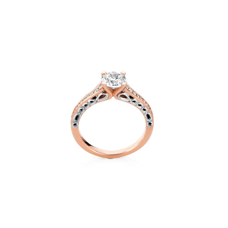 Oban Round Brilliant Diamond Engagement Ring