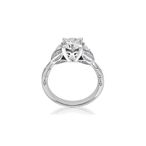 Maevona Tulip Round Brilliant Diamond Engagement Ring