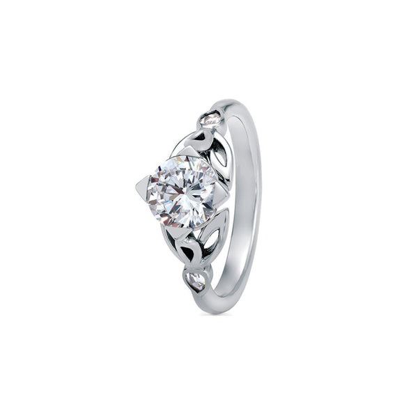 Maevona Peebles Round Brilliant Diamond Engagement Ring