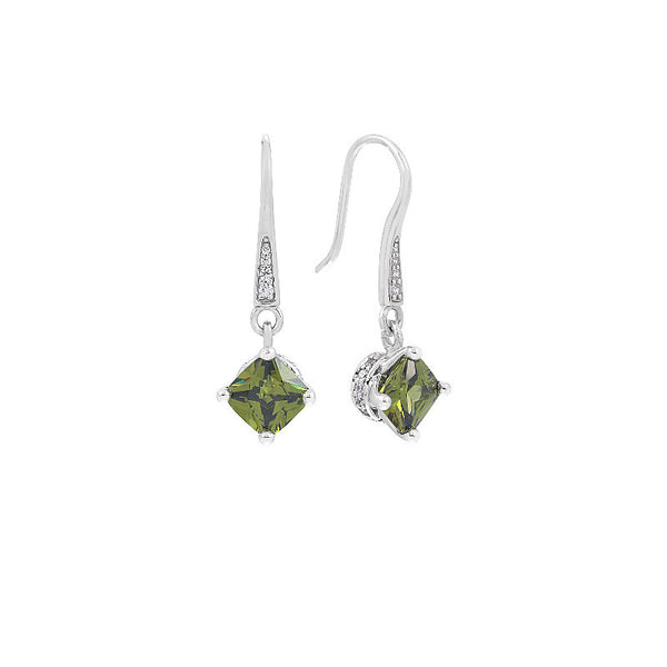 Amelie Olive Earrings
