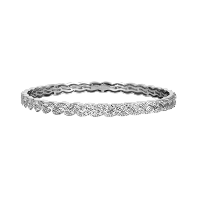 Belle Etoile Constellations Braid Collection pave-set stones bangle bracelet.