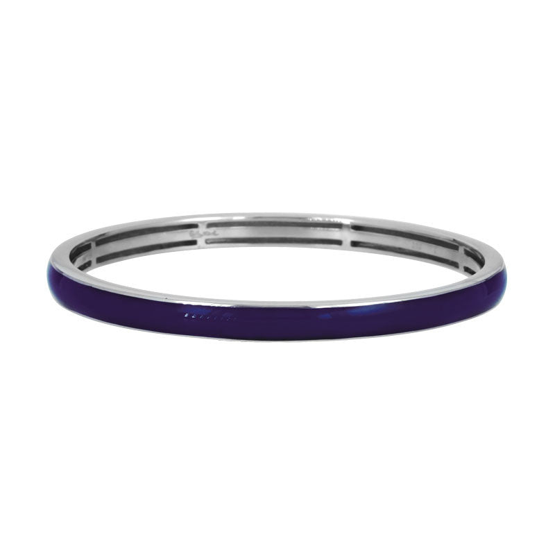Belle Etoile Constellations Pure Color Collection hand-painted twilight blue Italian enamel on bangle bracelet.