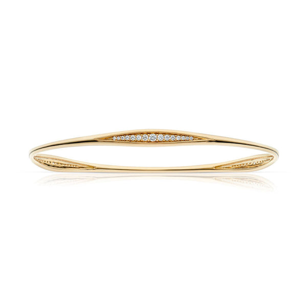 Forevermark Devotion Cut Diamond Yellow Gold Stacking Bangle