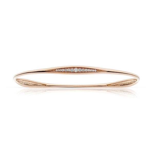 Forevermark Devotion Cut Diamond Rose Gold Stacking Bangle