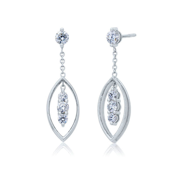 Forevermark Devotion Cut Diamond Oval Dangle Earrings