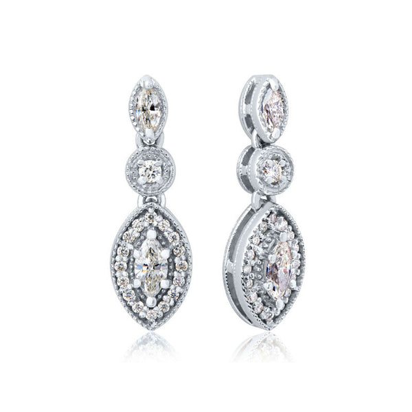 Forevermark Devotion Cut Diamond Double Drop Earrings