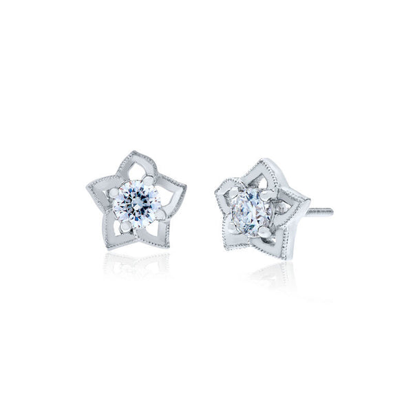 Forevermark Devotion Cut Diamond Star Earrings