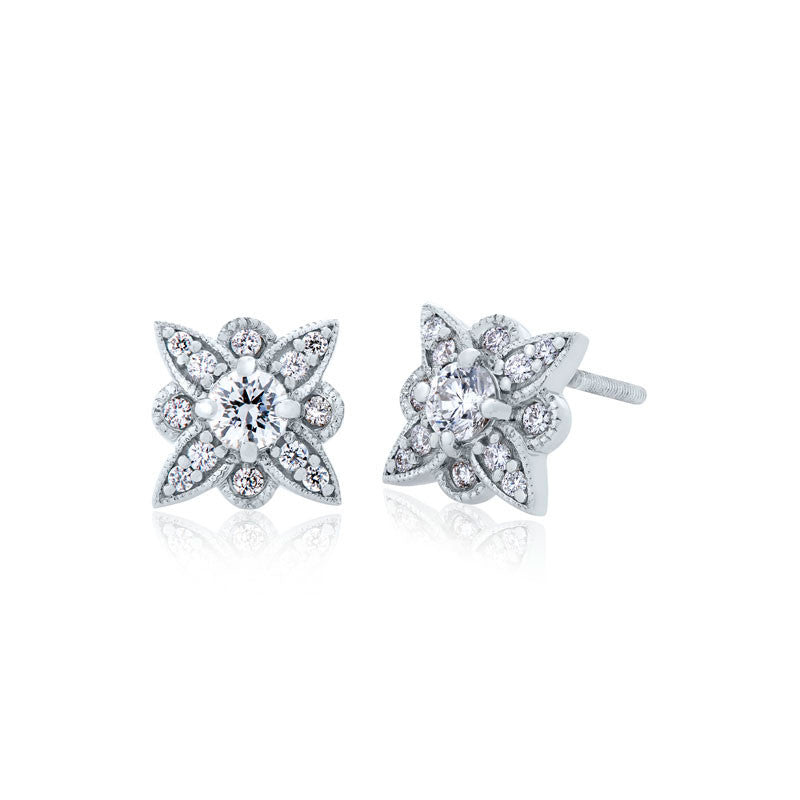 Forevermark Devotion Cut Diamond Floral Earrings
