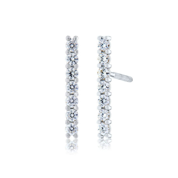Forevermark Devotion Cut Diamond Line Earring