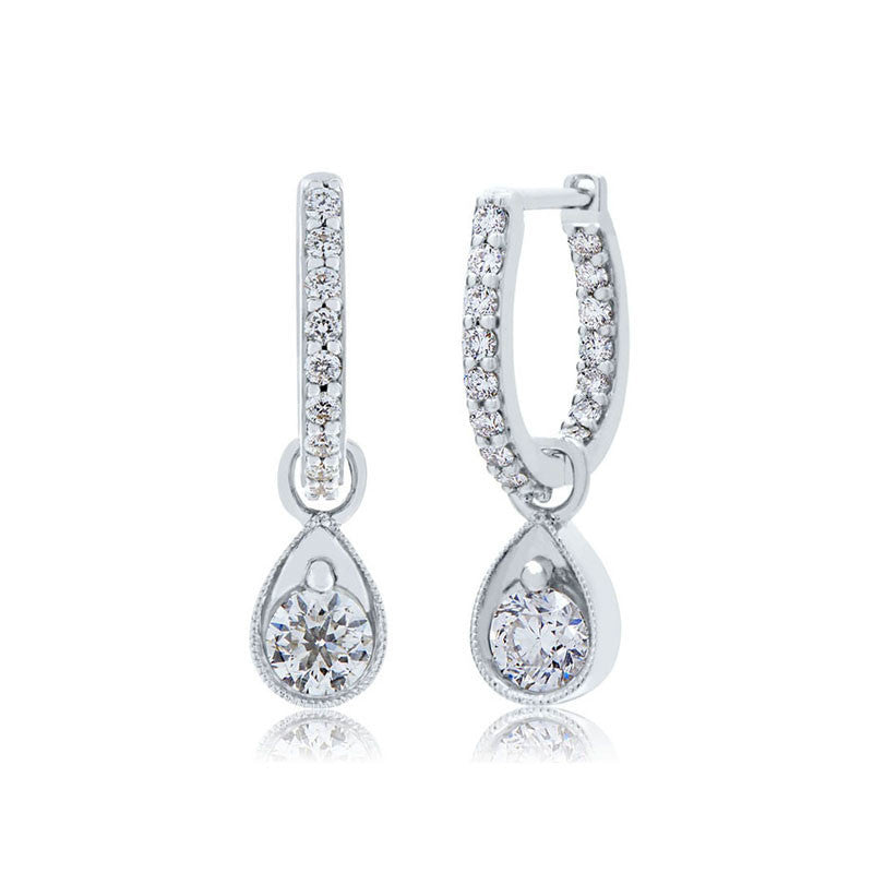 Forevermark Devotion Cut Diamond Loop Earrings