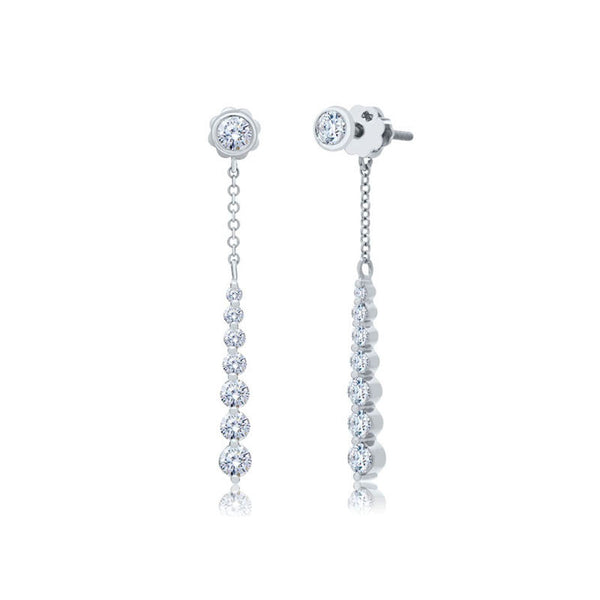 Forevermark Devotion Cut Diamond Dangle Diamond Earrings