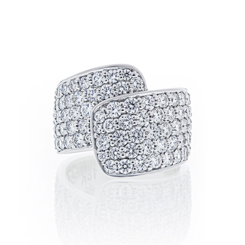 Forevermark Devotion Cut Diamond Ribbon Ring