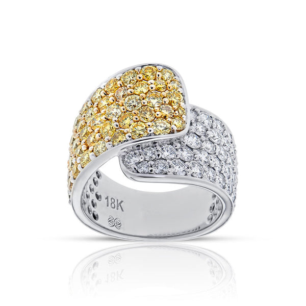 Forevermark Devotion Cut Diamond Mixed Ribbon Ring
