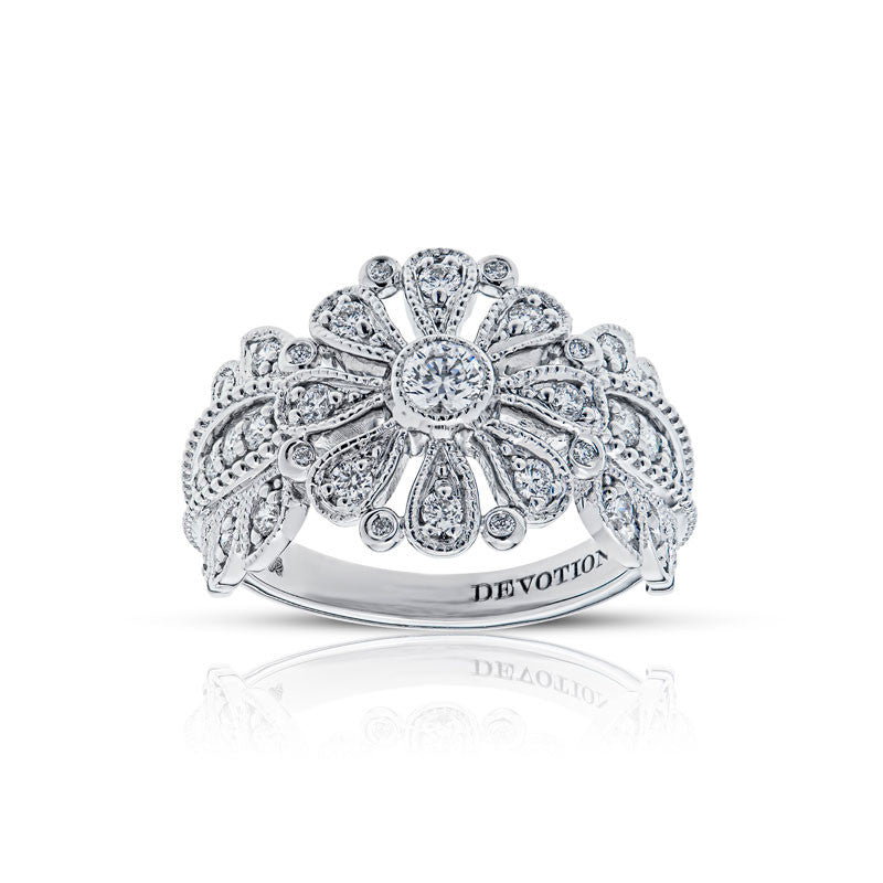 Forevermark Devotion Cut Diamond Floral Ring