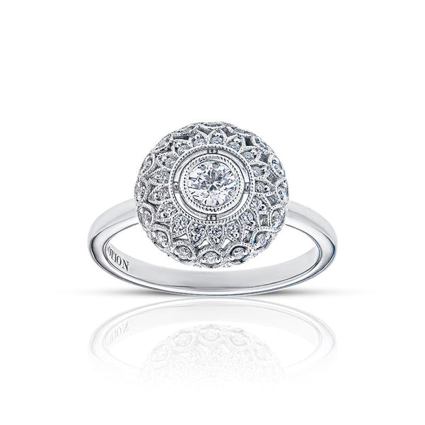 Forevermark Devotion Cut Diamond Double Halo Ring