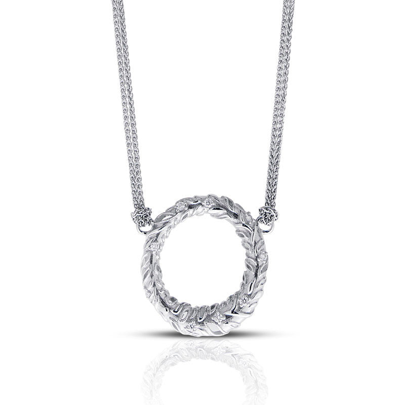 Forevermark Devotion Cut Diamond Textured Circle Necklace