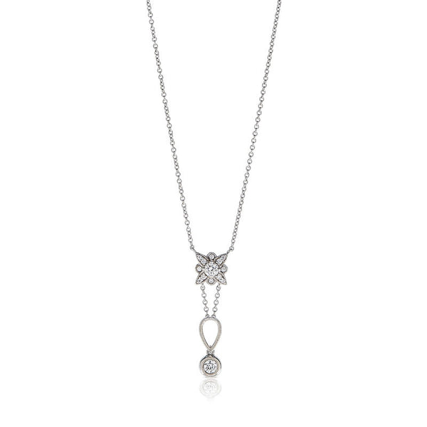 Forevermark Devotion Cut Diamond Floral Drop Necklace