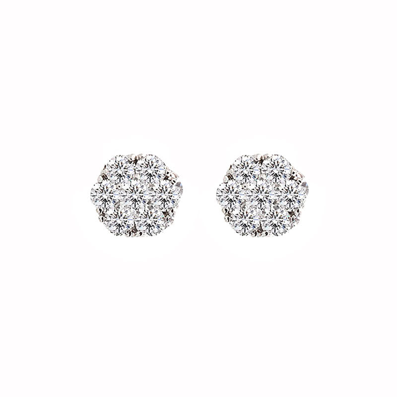 Harmony Jewel Collection Round Diamond Stud Earrings, 6ctw Look
