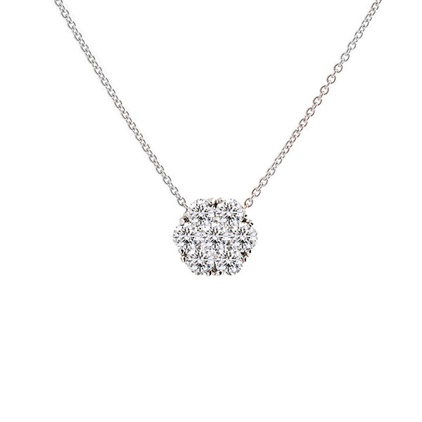 Harmony Jewel Collection Diamond Necklace, 4ct Look