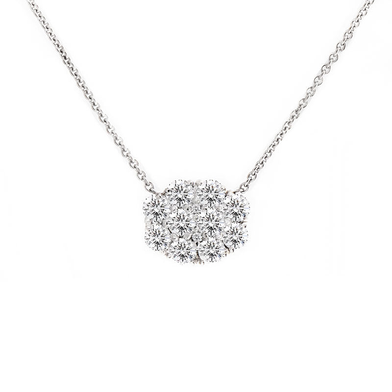Harmony Jewel Collection Oval Diamond Necklace, 4ct Look