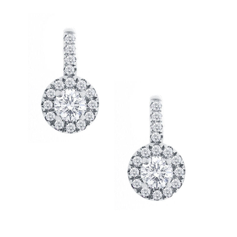 Forevermark Center of My Universe White Gold Drop Earrings, 0.70 total carat