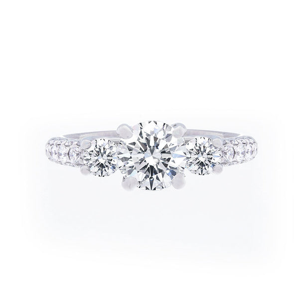 Forevermark Three Stone Engagement Ring for 1.50 carat center