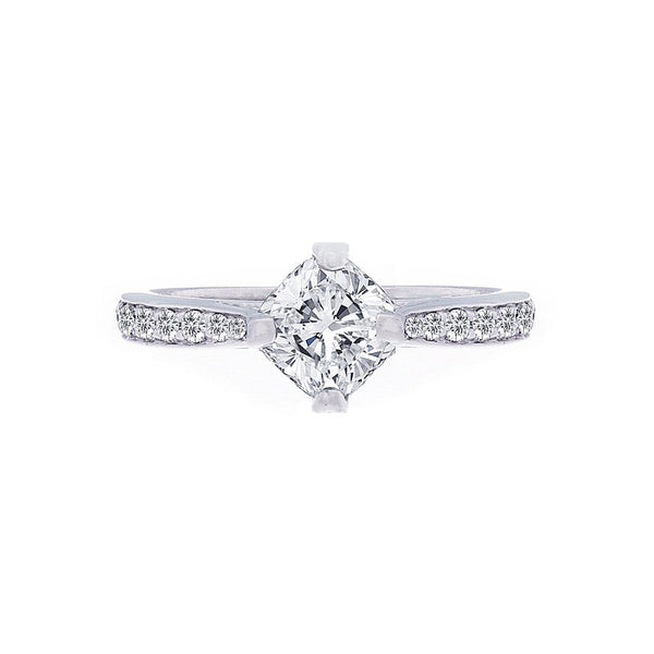 Forevermark Cushion Diamond On Point Engagement Ring