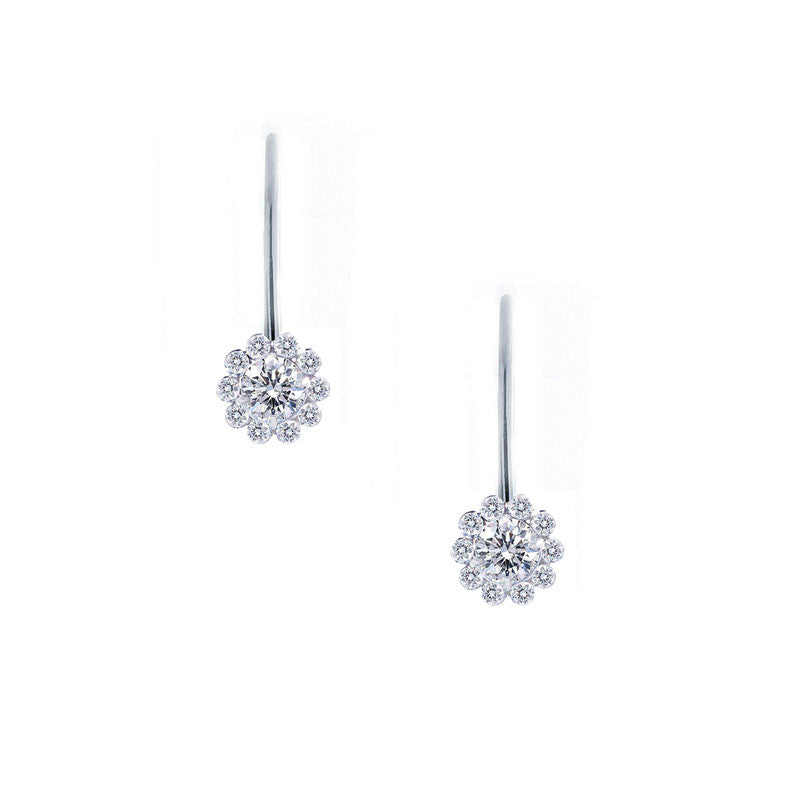 Forevermark Invisible Halo Drop Diamond Earrings