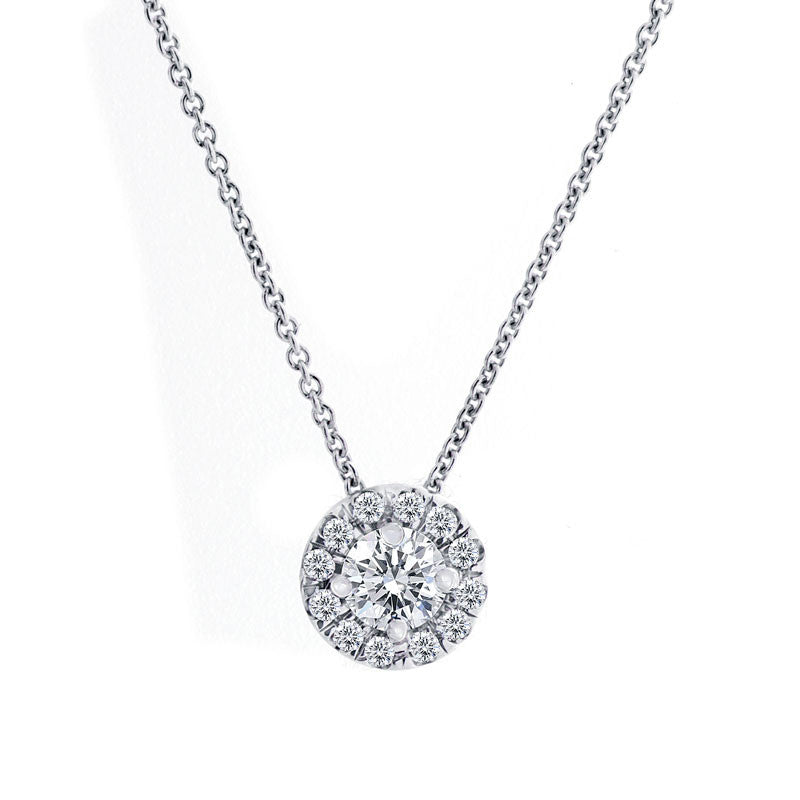 Forevermark Center of My Universe White Gold Pendant, 0.35 total carat