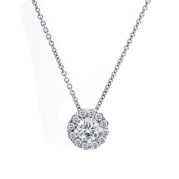 Forevermark Center of My Universe White Gold Pendant, 0.30 total carat