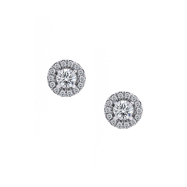 Forevermark Center of My Universe White Gold Earrings, 0.85 total carat