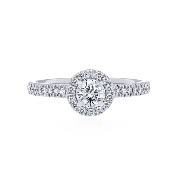 Forevermark Center of My Universe Round Halo Engagement Ring, 0.55 total carat