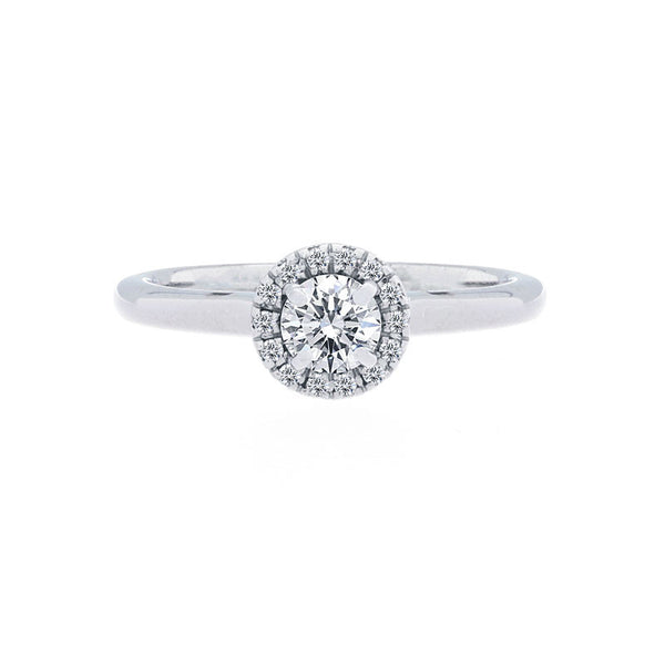Forevermark Center of My Universe Round Halo Engagement Ring, 0.35 total carat
