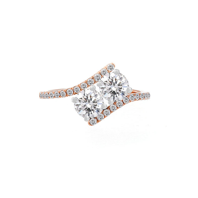 Forevermark Ever Us Rose and White Gold Ring, 1.20 total carat