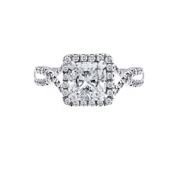 Forevermark Infinity Halo Engagement Ring for Princess Cut Diamond Center
