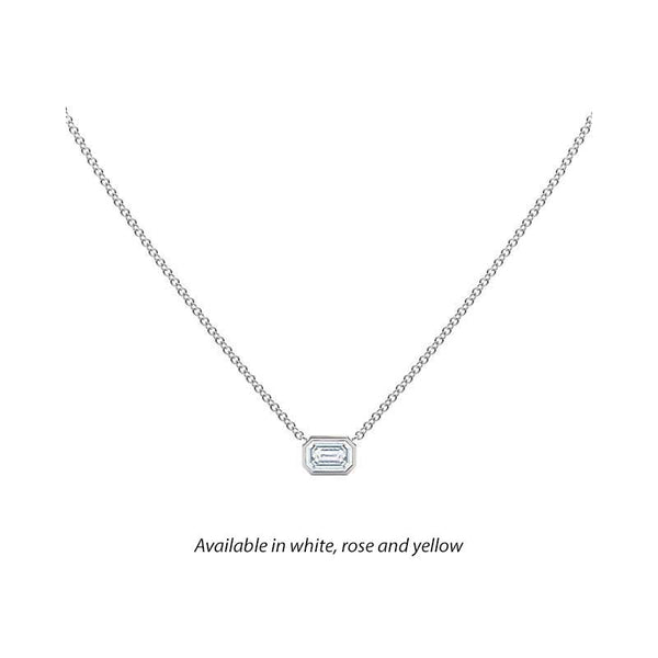 Forevermark Tribute™ Emerald Cut Diamond Necklace