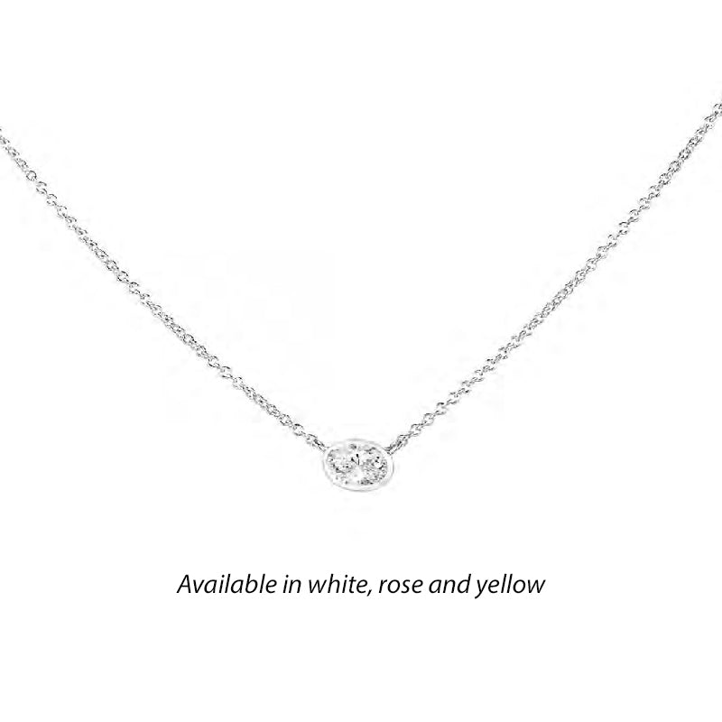 Forevermark Tribute™ Oval Diamond Necklace