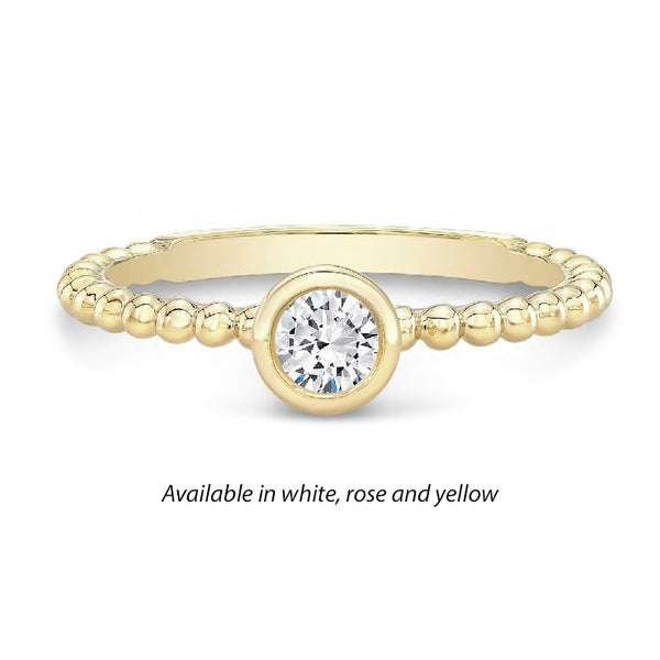 Forevermark Tribute™ Diamond Bead Stack Band