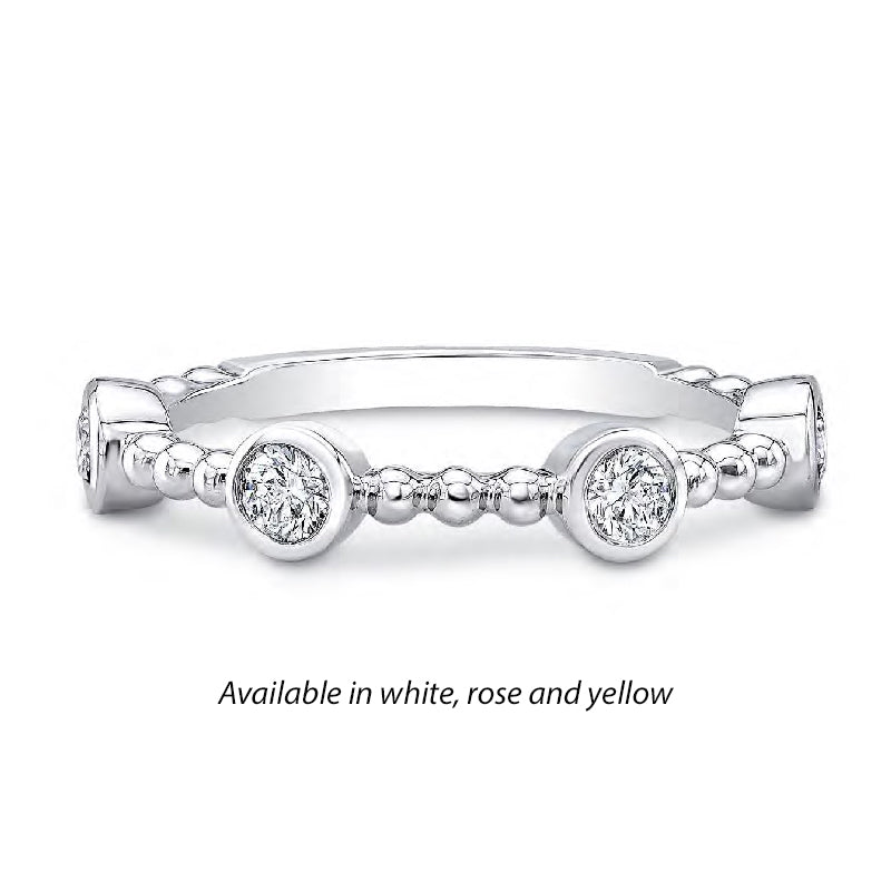 Forevermark Tribute™ 4 Diamond Bead Stack Band