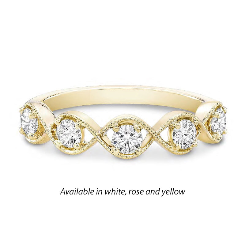 Forevermark Tribute™ Diamond Oval Stack Band