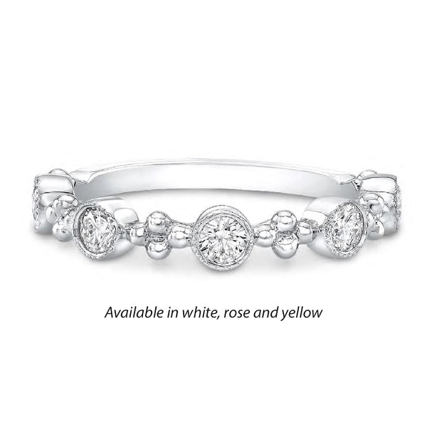 Forevermark Tribute™ 5 Diamond Bead and Bezel Stack Band