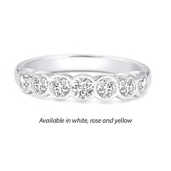 Forevermark Tribute™ Diamond Round Bezel Stack Band