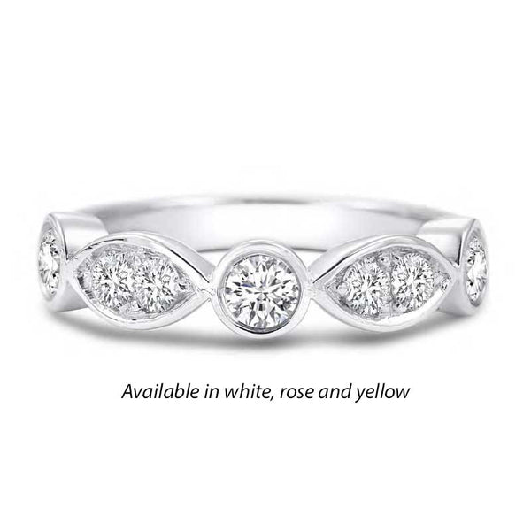 Forevermark Tribute™ Diamond Round and Oval Stack Band