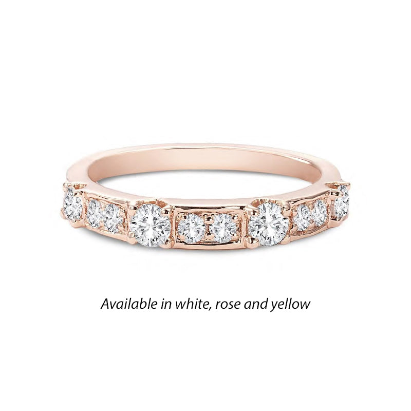 Forevermark Tribute™ Diamond Rectangular Stack Band