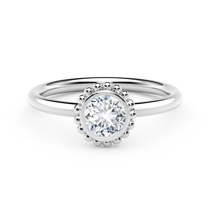 Forevermark Tribute™ Diamond Round Beaded Band