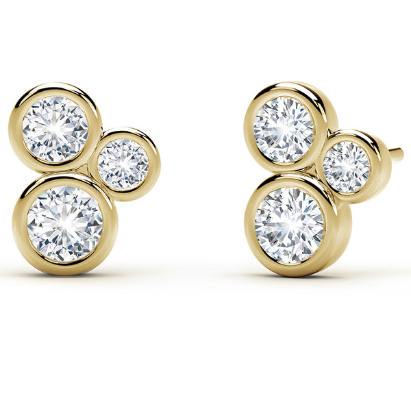 Forevermark Tribute™ Round Diamond 3 Bezel Stud Earrings