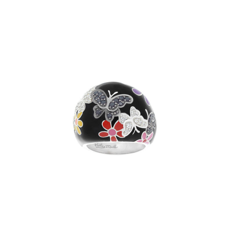 Flutter Black and Multicolor Ring