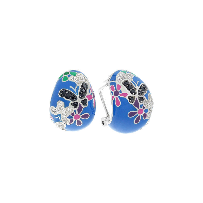 Flutter Blue and Multicolor Earrings