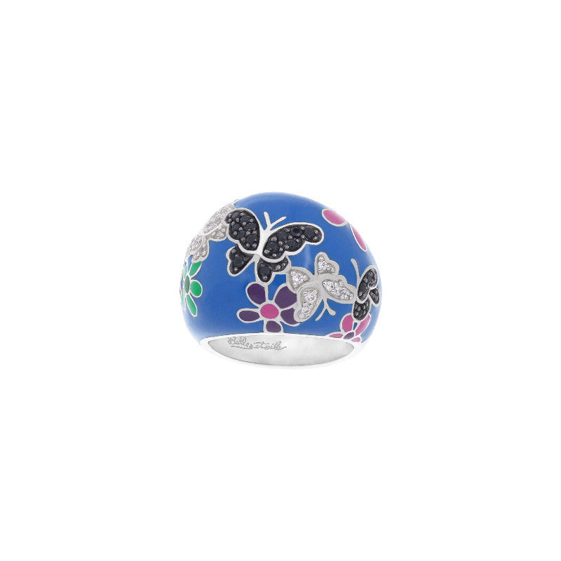 Flutter Blue and multicolor Ring